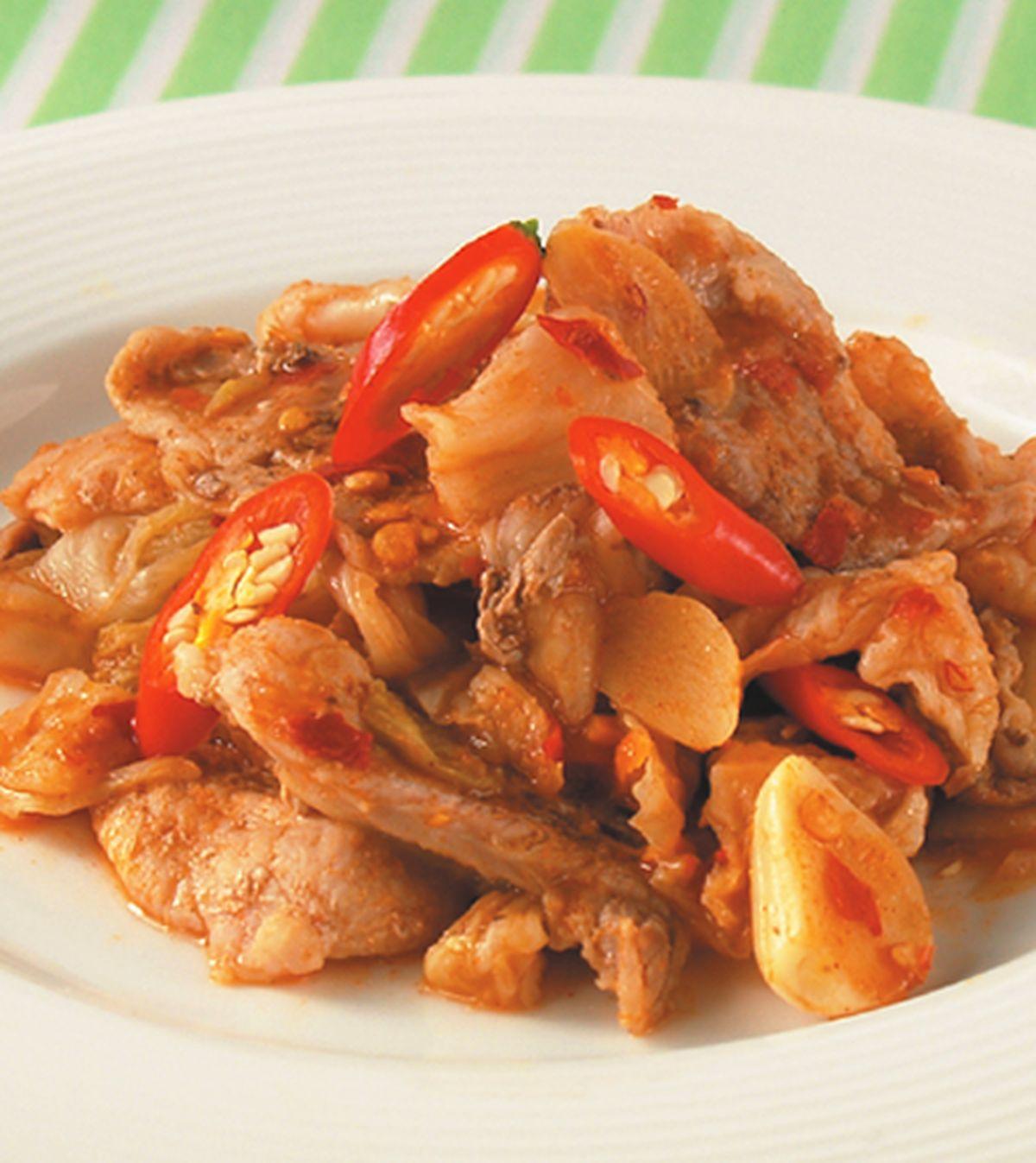 食譜:蒜味泡菜炒肉片