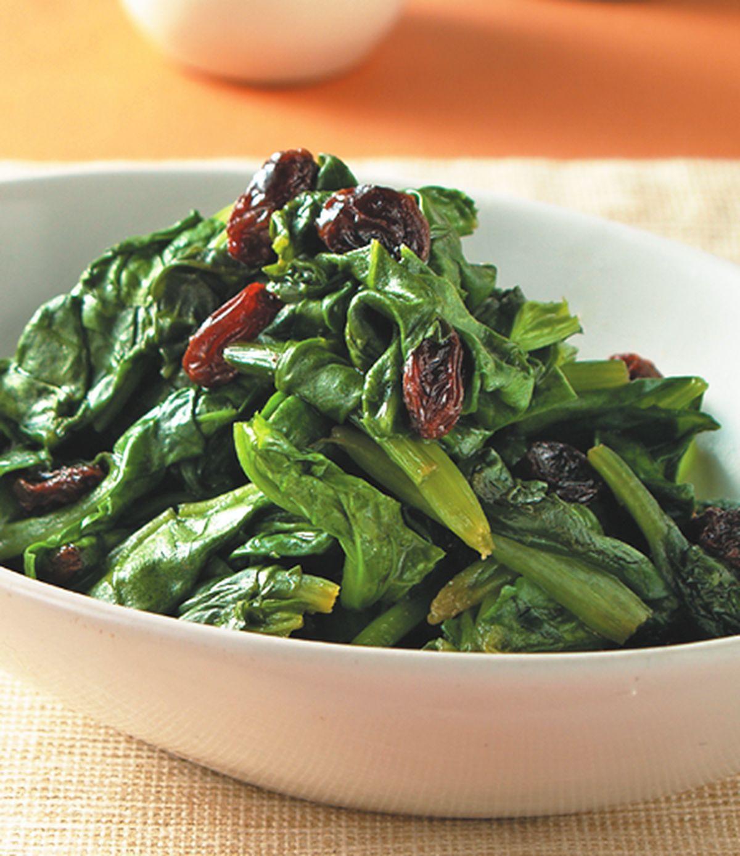 食譜:補血菠菜盤