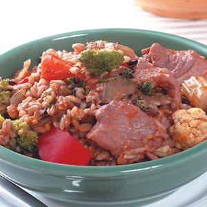 南瓜豬肉燉飯