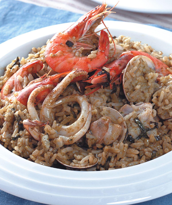 食譜:青醬海鮮燉飯