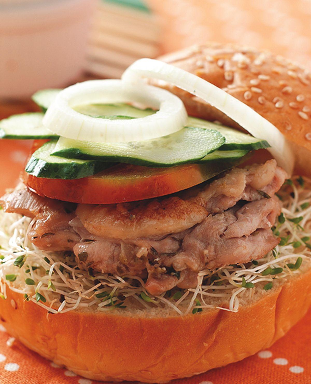 食譜:普羅旺斯烤雞腿堡
