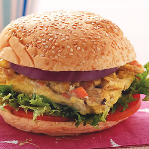 洋菇蔬菜蛋堡