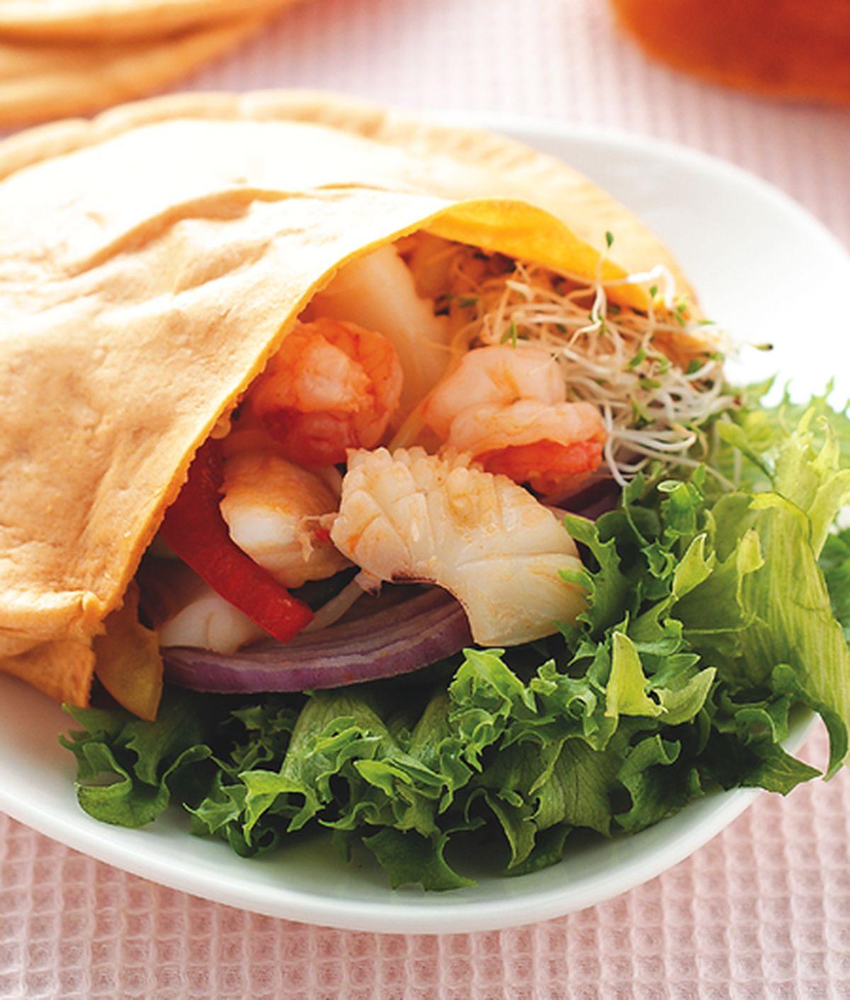 食譜:南洋辣味海鮮口袋餅