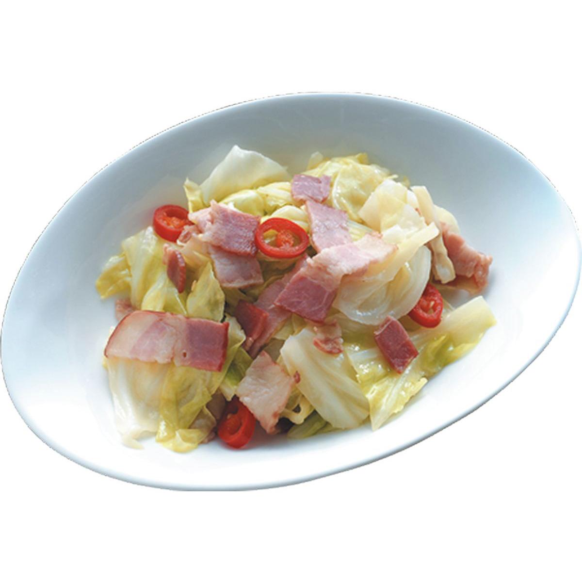 食譜:培根炒高麗菜(2)