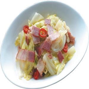 培根炒高麗菜(2)