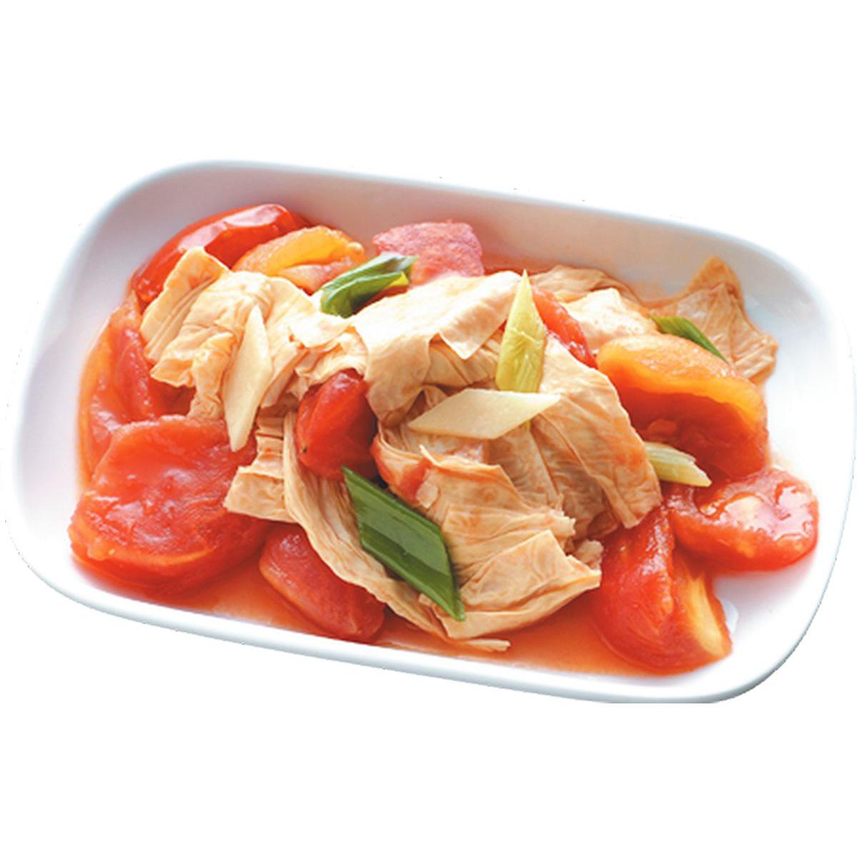 食譜:番茄炒豆包
