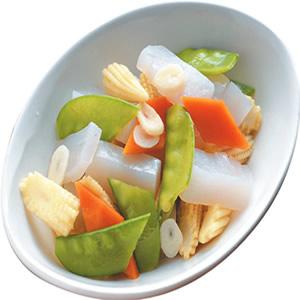 玉米筍炒蒟蒻