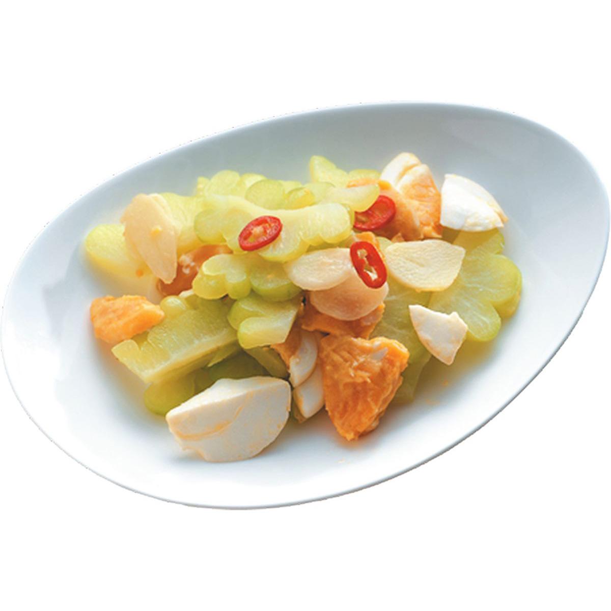 食譜:鹹蛋苦瓜(8)
