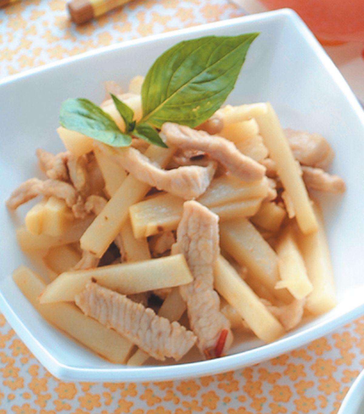 食譜:竹筍炒肉絲(2)