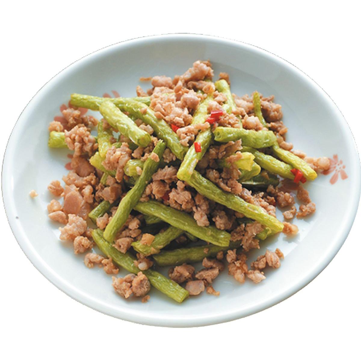 食譜:乾扁四季豆(1)