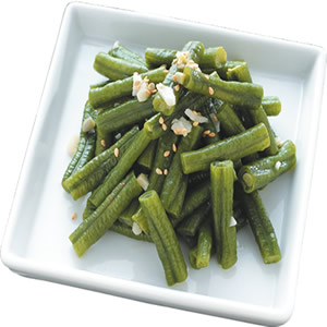 芝麻炒長豆