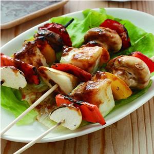 串燒蔬菜佐沙茶蛋黃醬