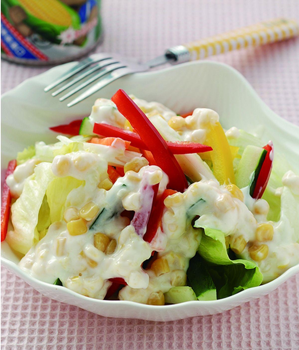 食譜:玉米沙拉醬蔬菜