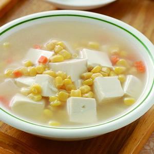 玉米豆腐湯