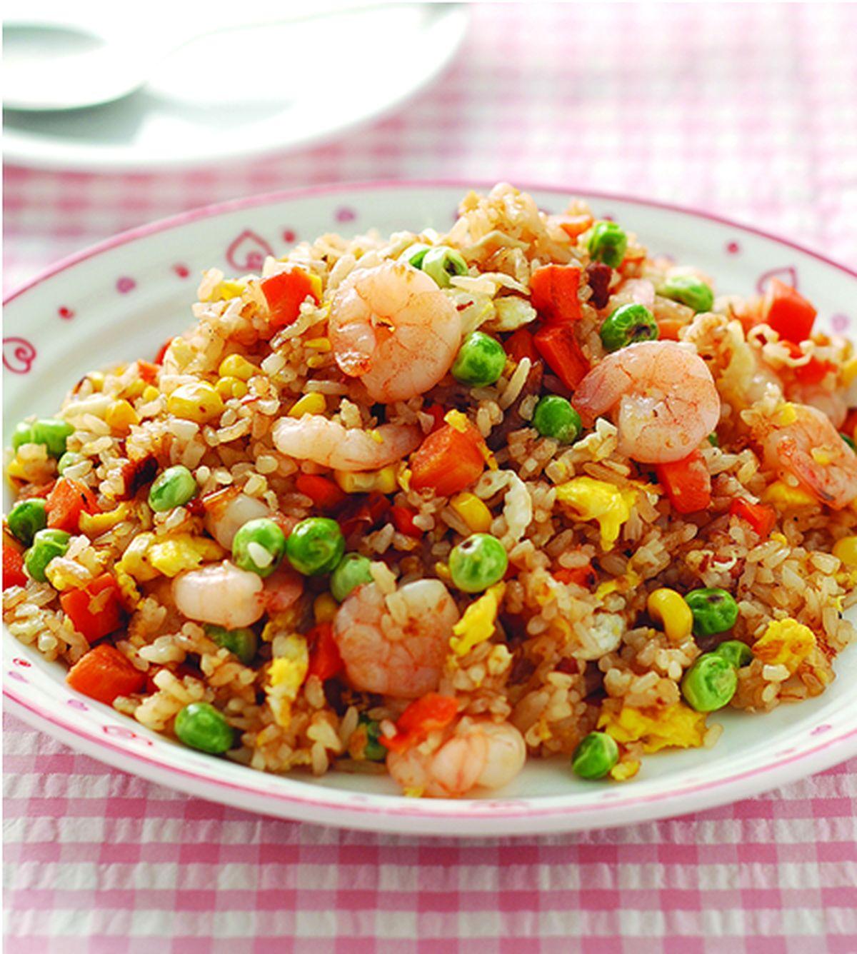 食譜:三色鮮蝦炒飯