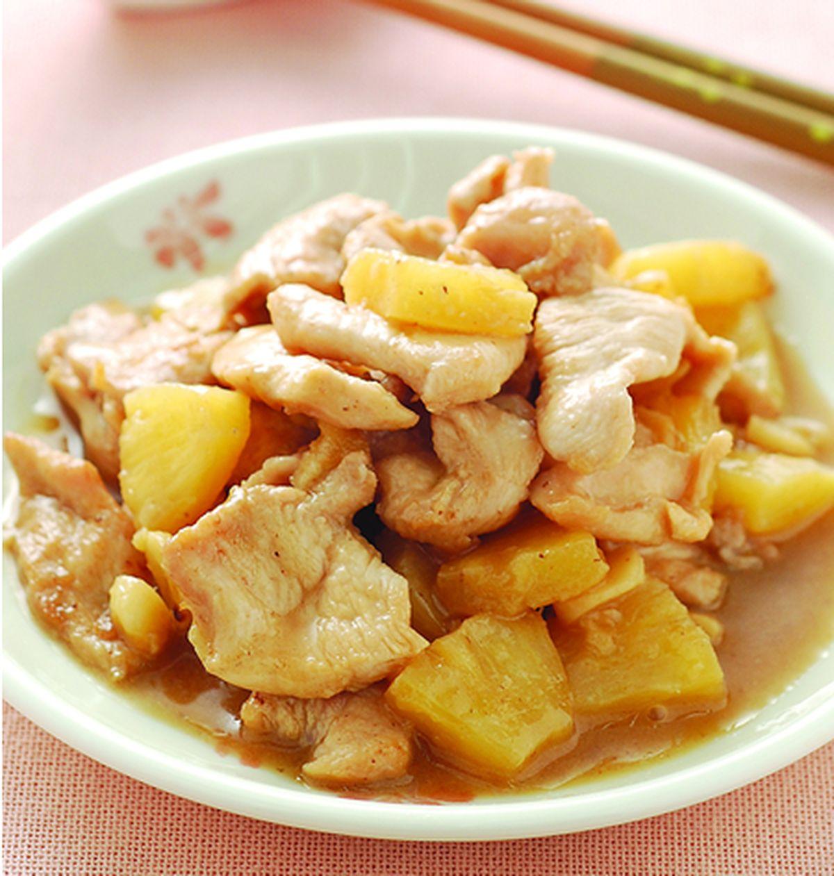 食譜:鳳梨蒜雞片