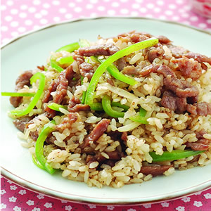 青椒牛肉炒飯(3)