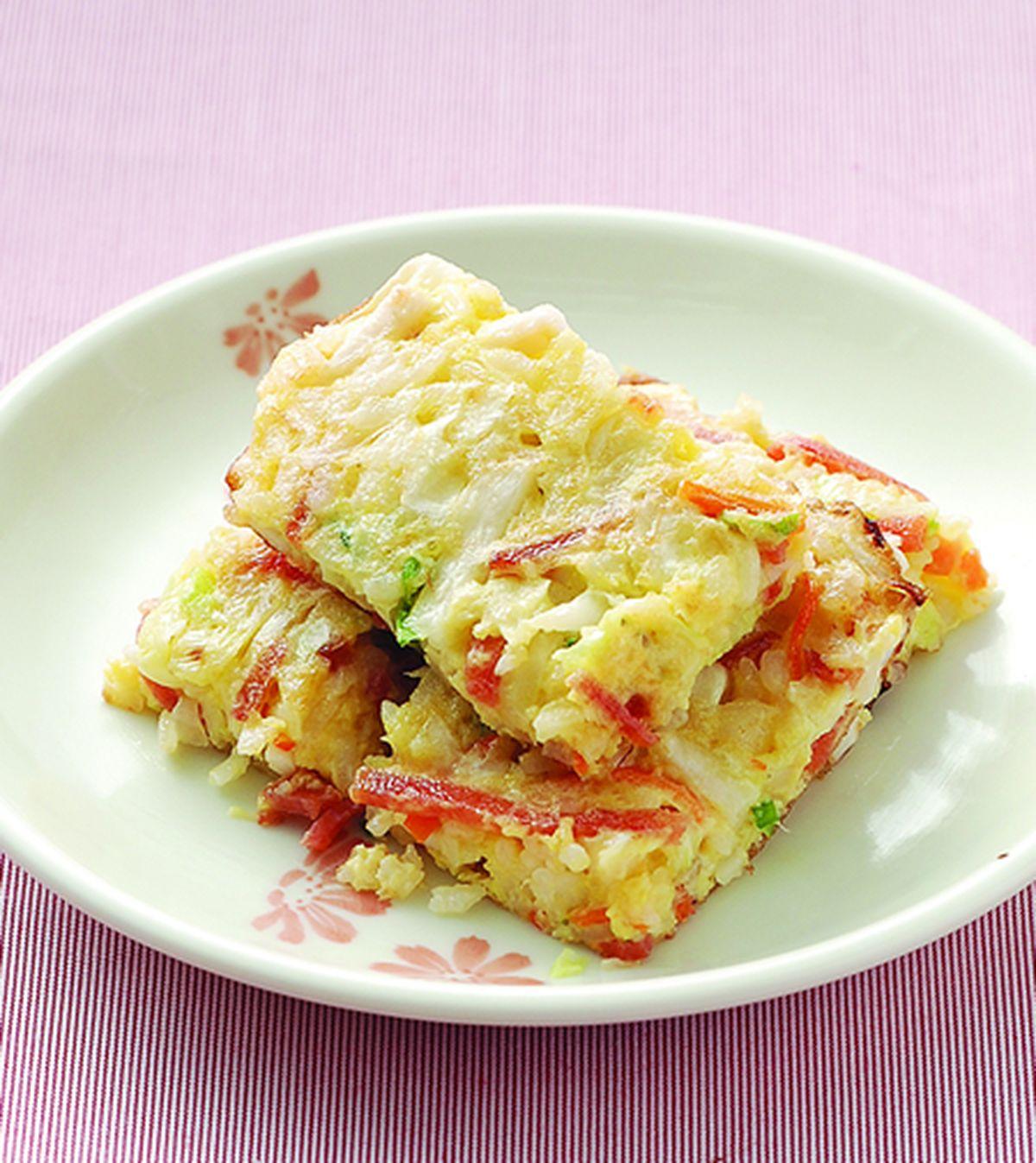 食譜:蔬菜米蛋餅
