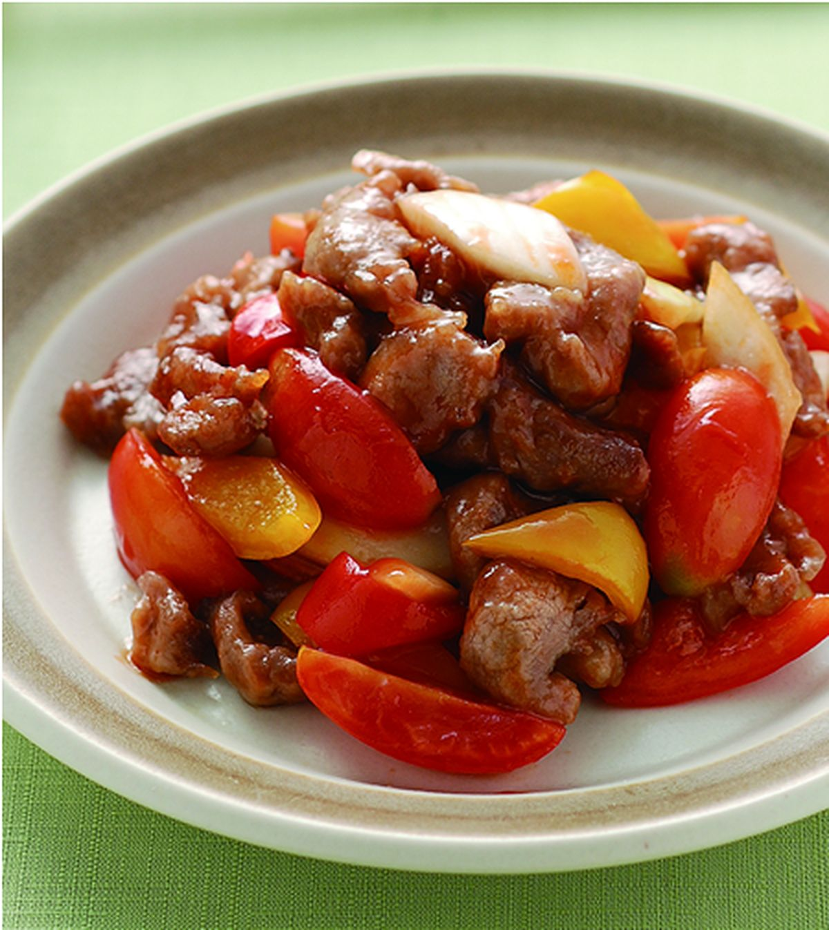 食譜:五彩蕃茄肉片