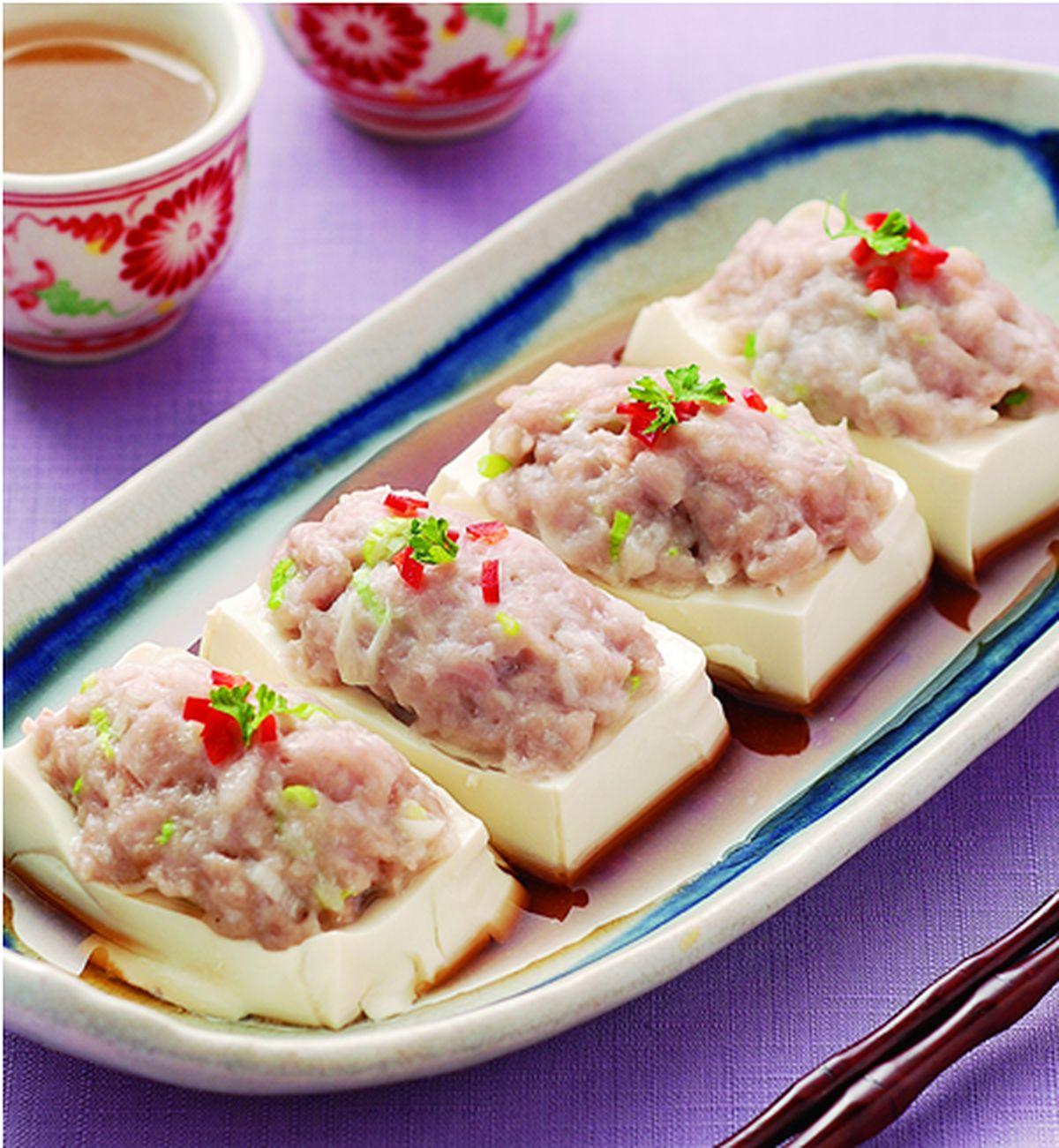 食譜:蒸鑲豆腐(1)