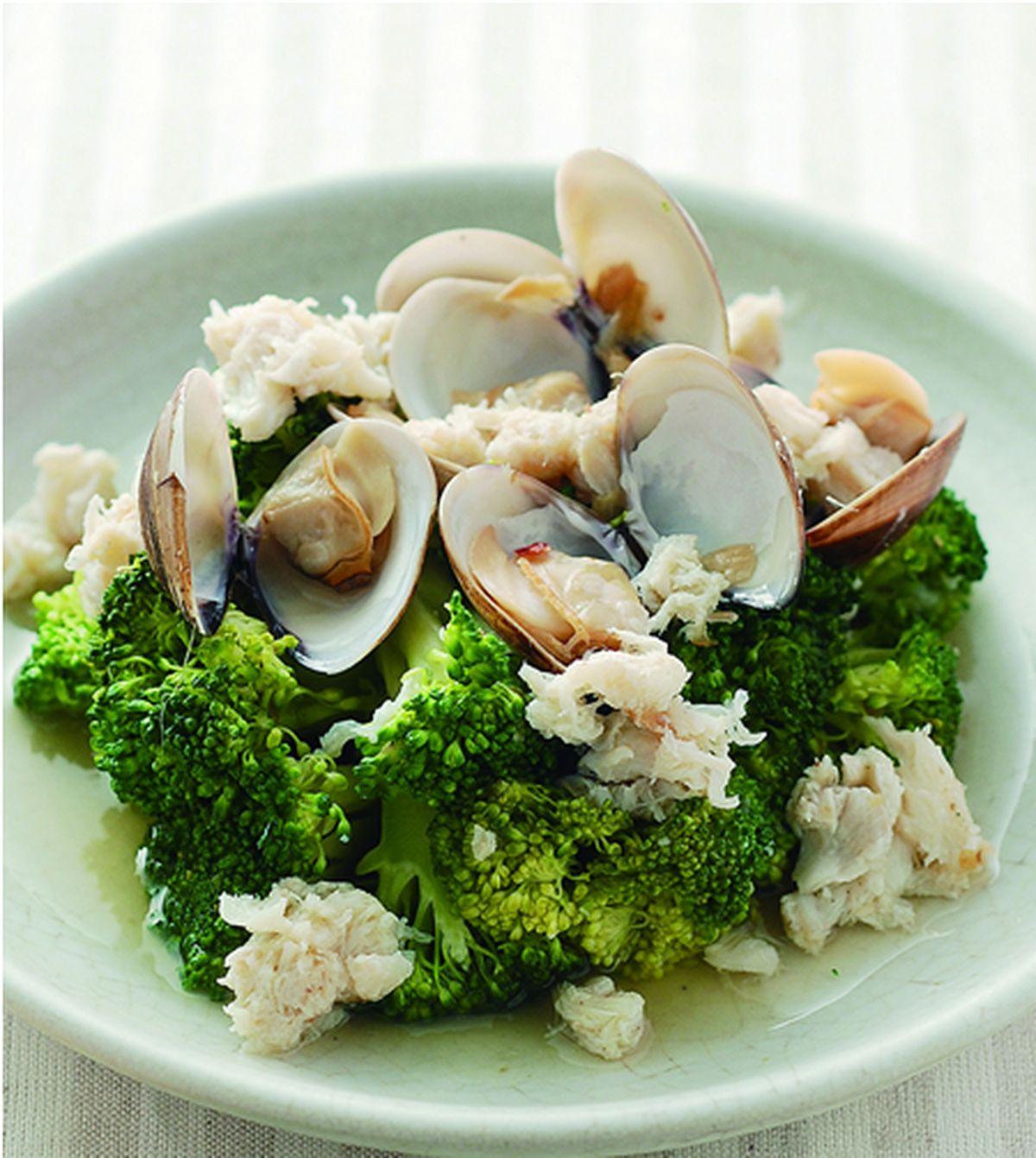 食譜:蛤蜊蟹肉青花
