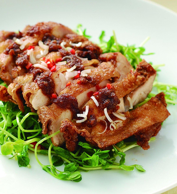 食譜:沙茶脆皮雞