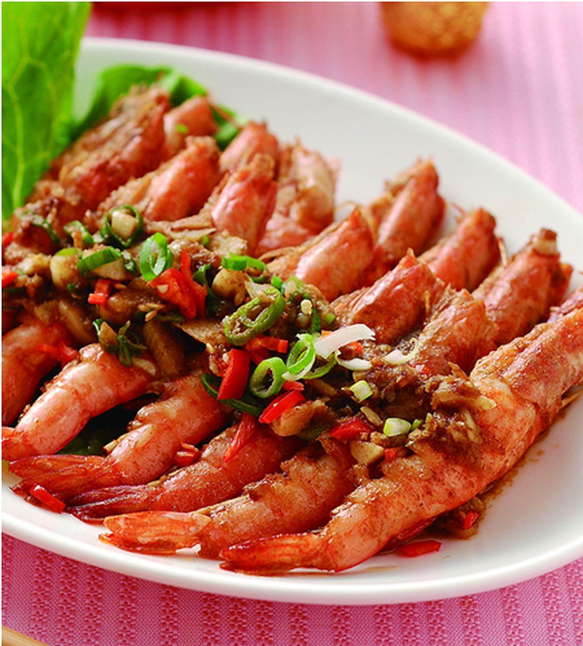 食譜:沙茶乾燒蝦