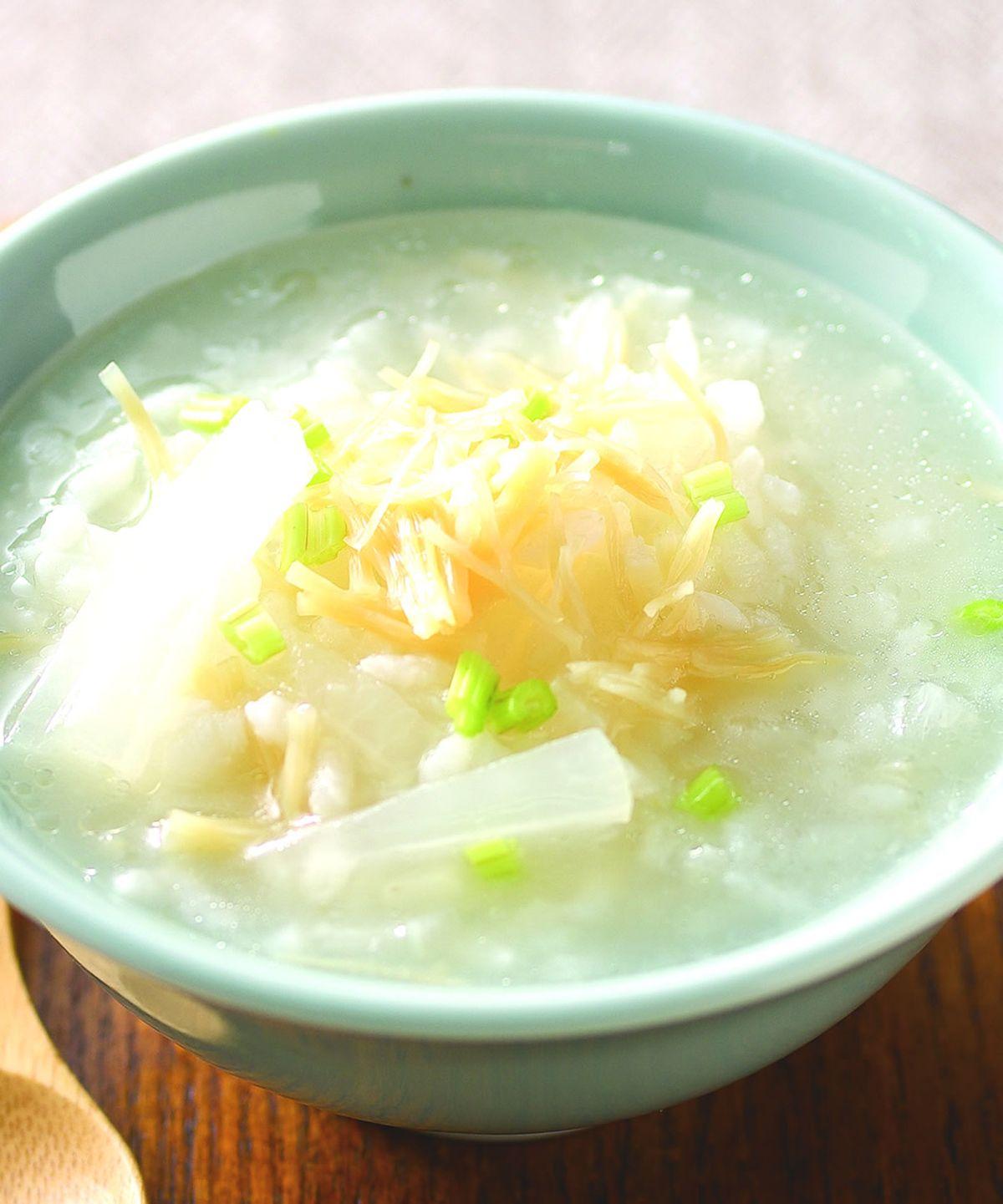 食譜:干貝蘿蔔粥
