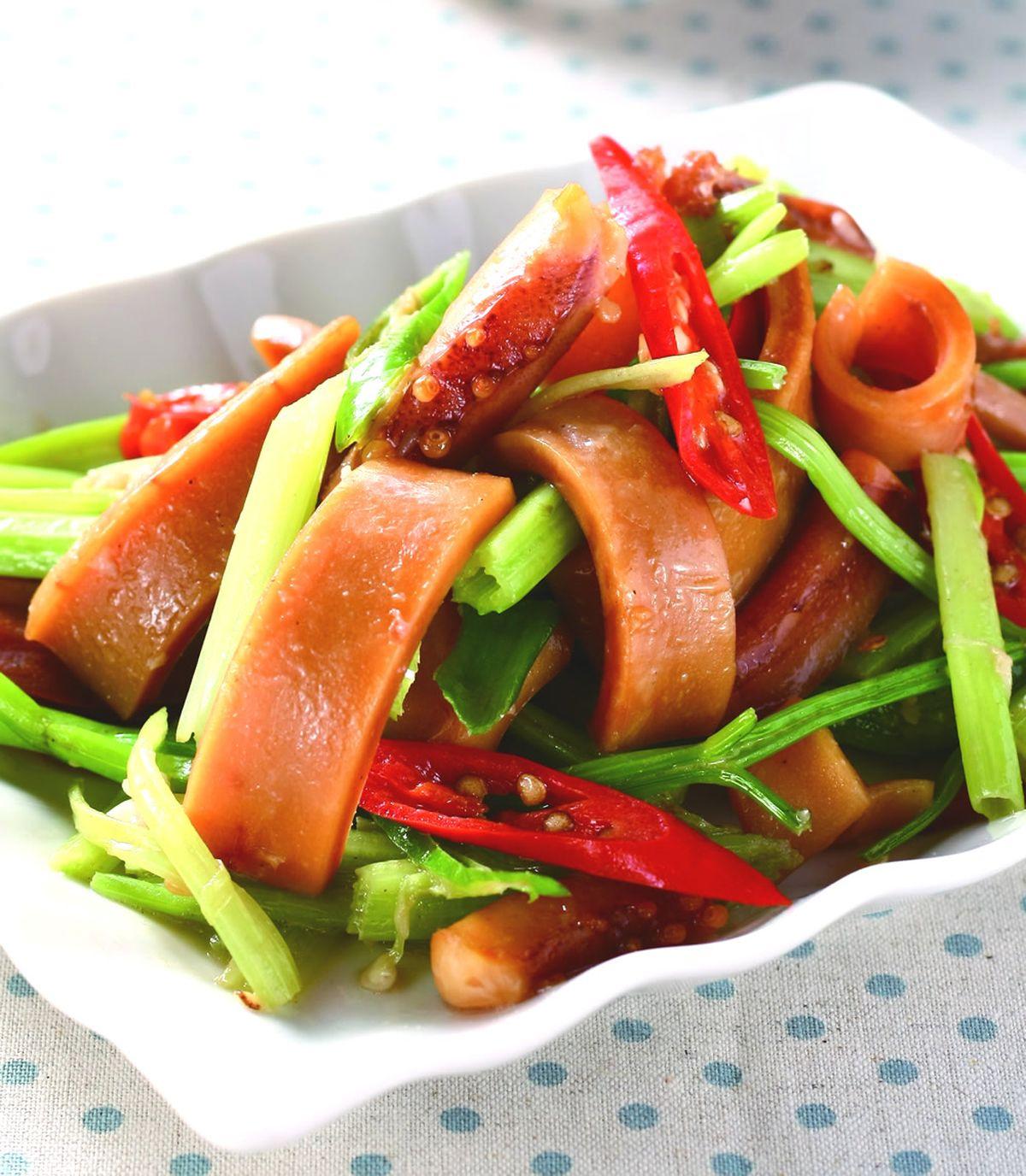 食譜:中芹魷魚