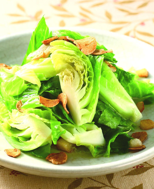 食譜:蒜酥高麗菜