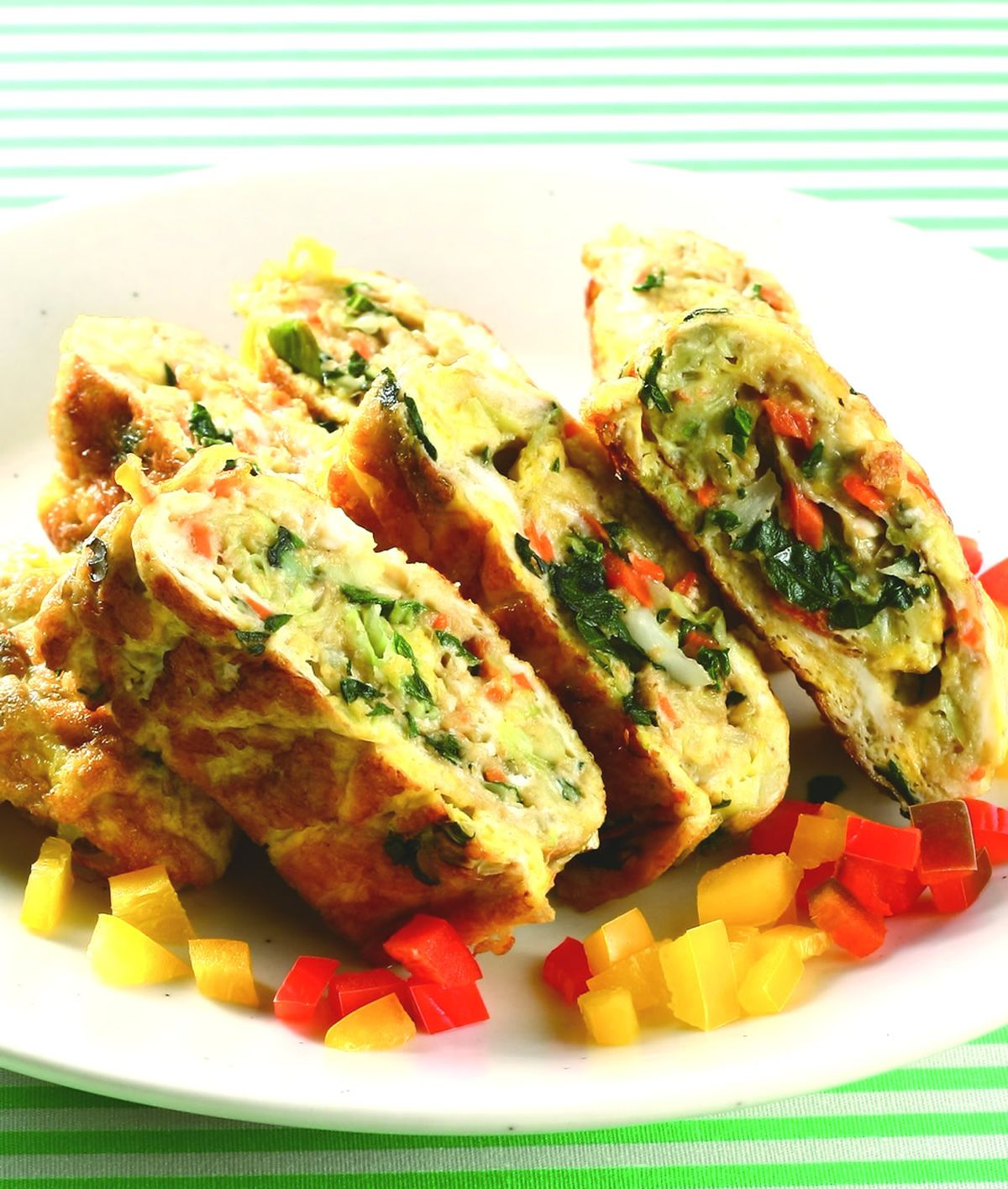 食譜:層香蔬菜烘蛋捲