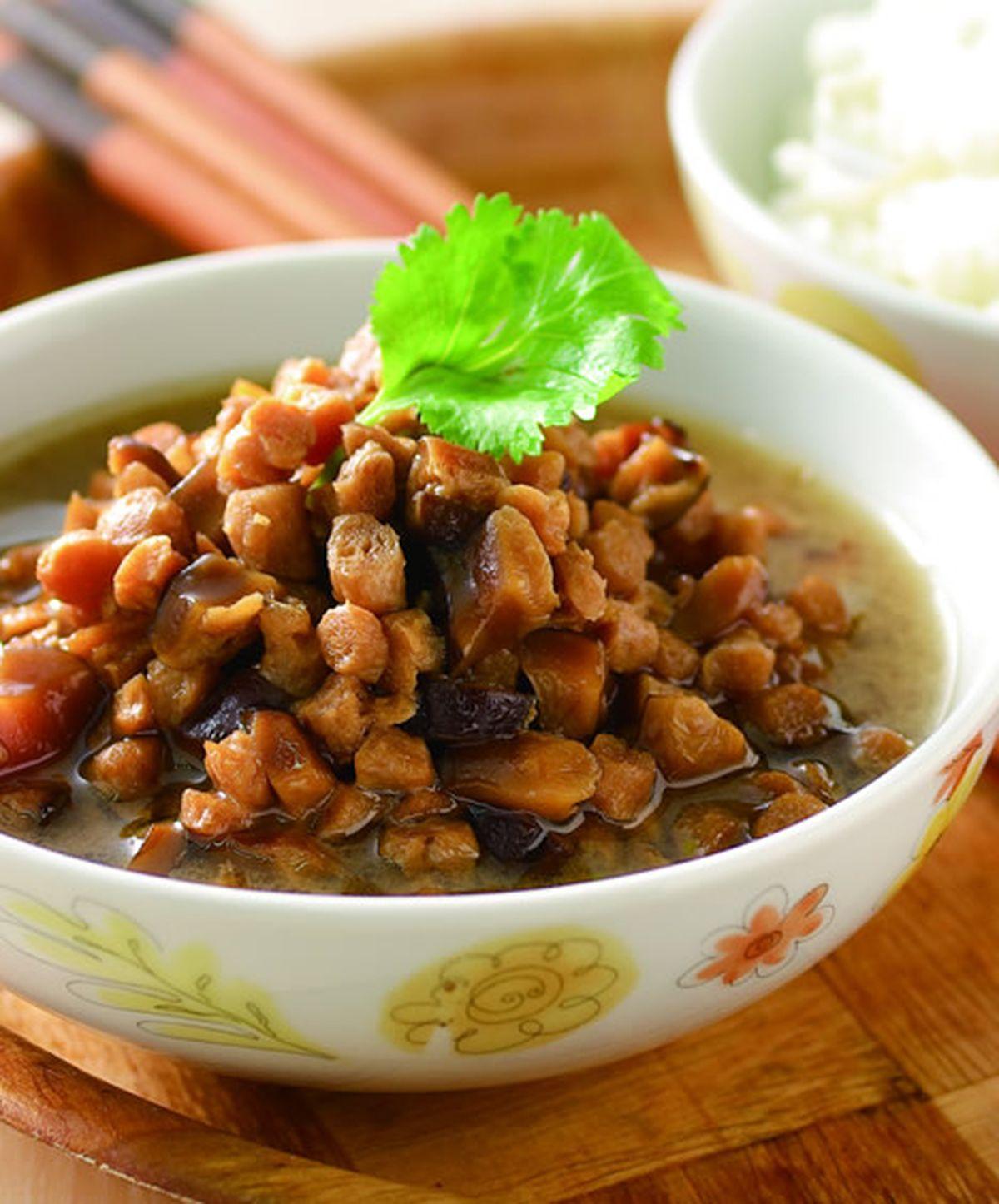 食譜:香菇素肉飯(1)