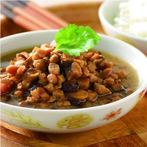 香菇素肉飯(1)