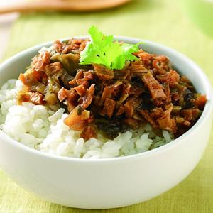 福菜素肉飯