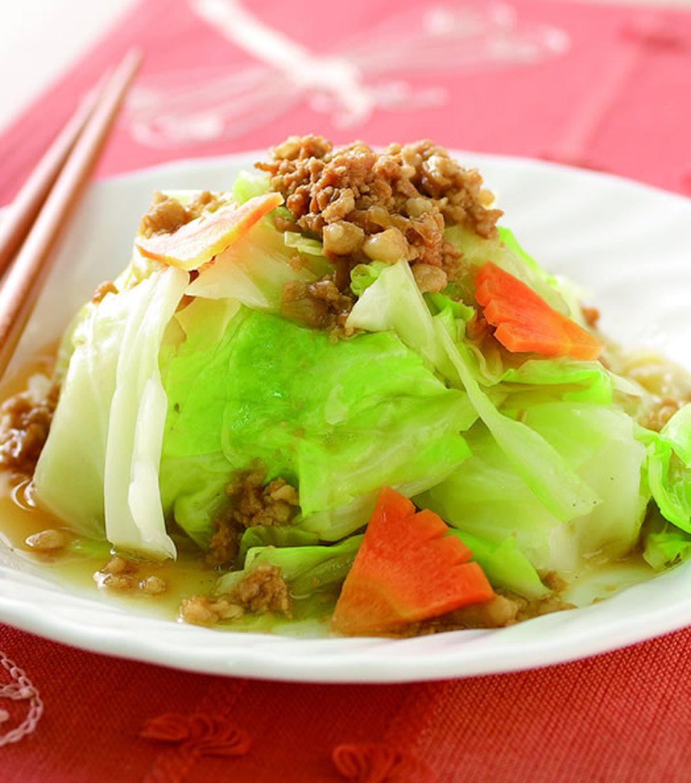 食譜:燙高麗菜淋肉燥