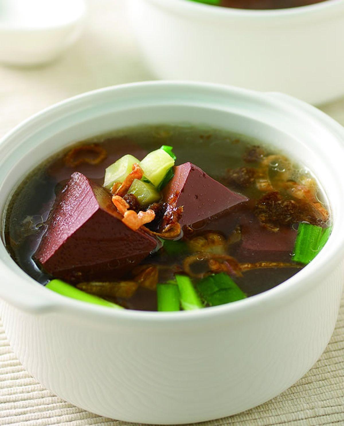 食譜:豬血湯