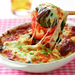 義式焗烤蕃茄茄子