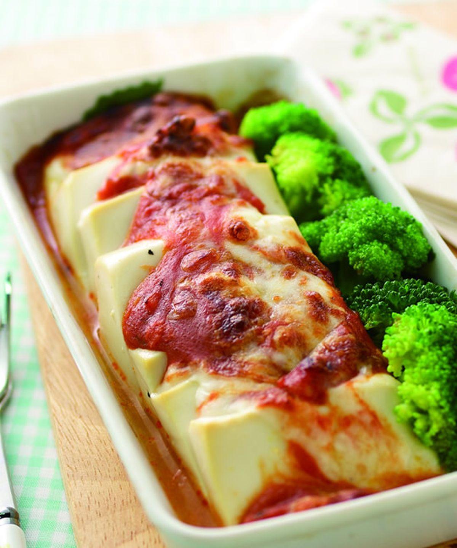 食譜:茄汁肉醬焗烤嫩豆腐