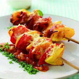 茄汁肉醬焗烤甜椒