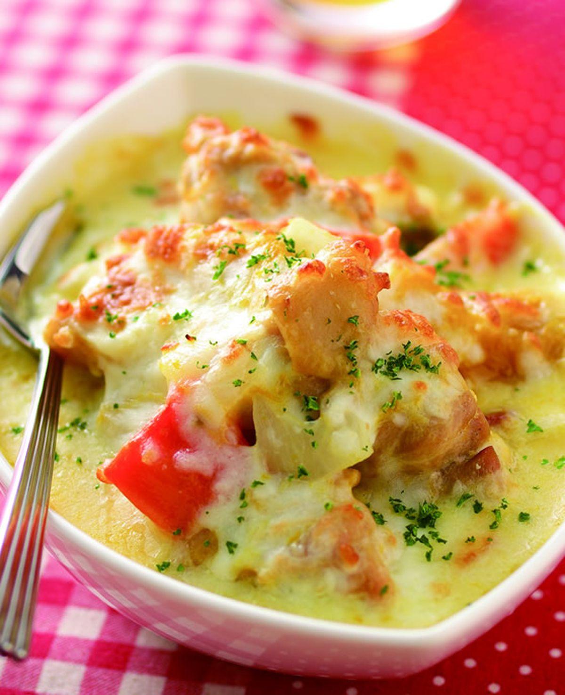 食譜:奶油南瓜焗烤雞腿