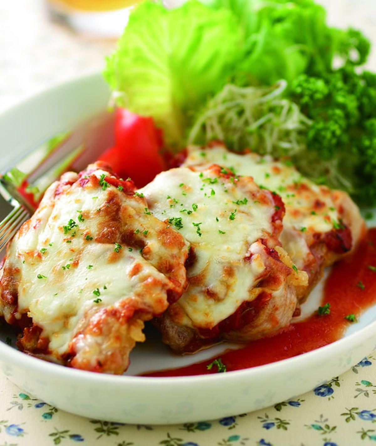 食譜:蕃茄起司烤豬排