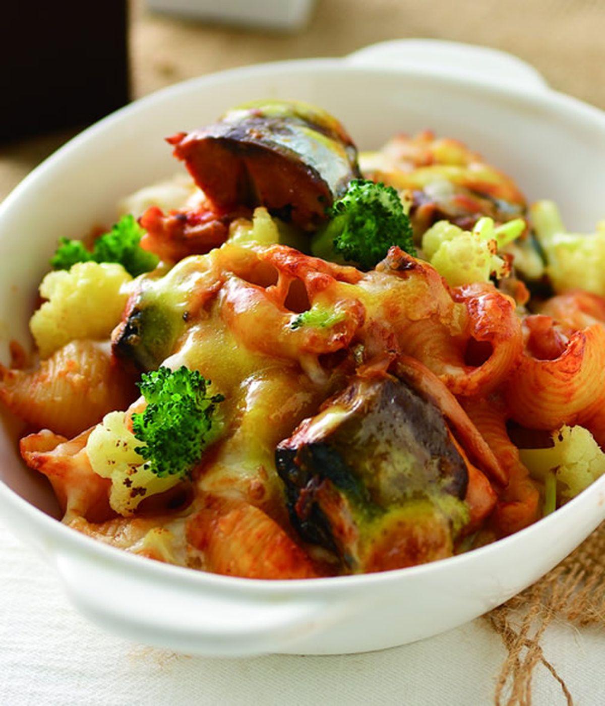 食譜:茄汁鯖魚焗貝殼麵