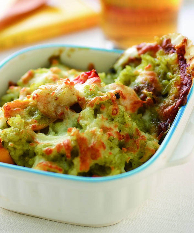 食譜:青醬海鮮焗飯