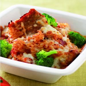 洋蔥豚肉焗飯