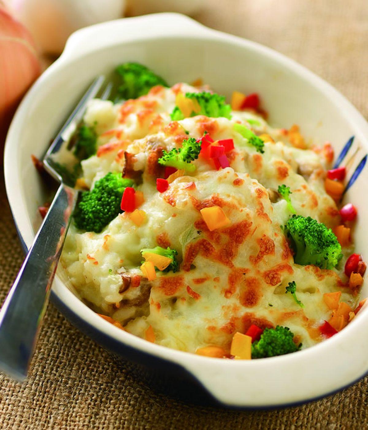 食譜:奶油野菇焗飯