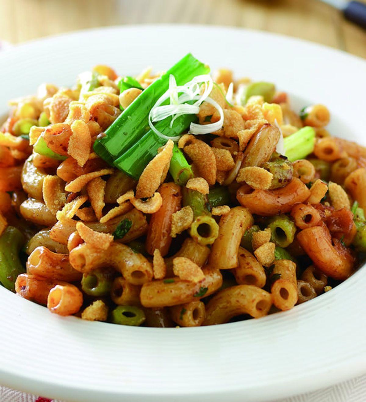 食譜:蠶豆酥拌通心麵
