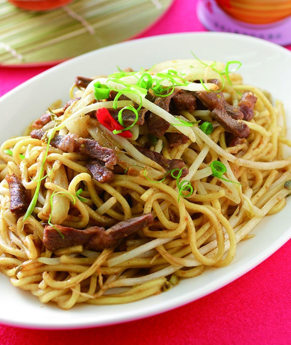 食譜:燒烤風牛肉炒麵