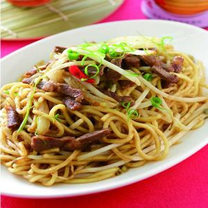 燒烤風牛肉炒麵