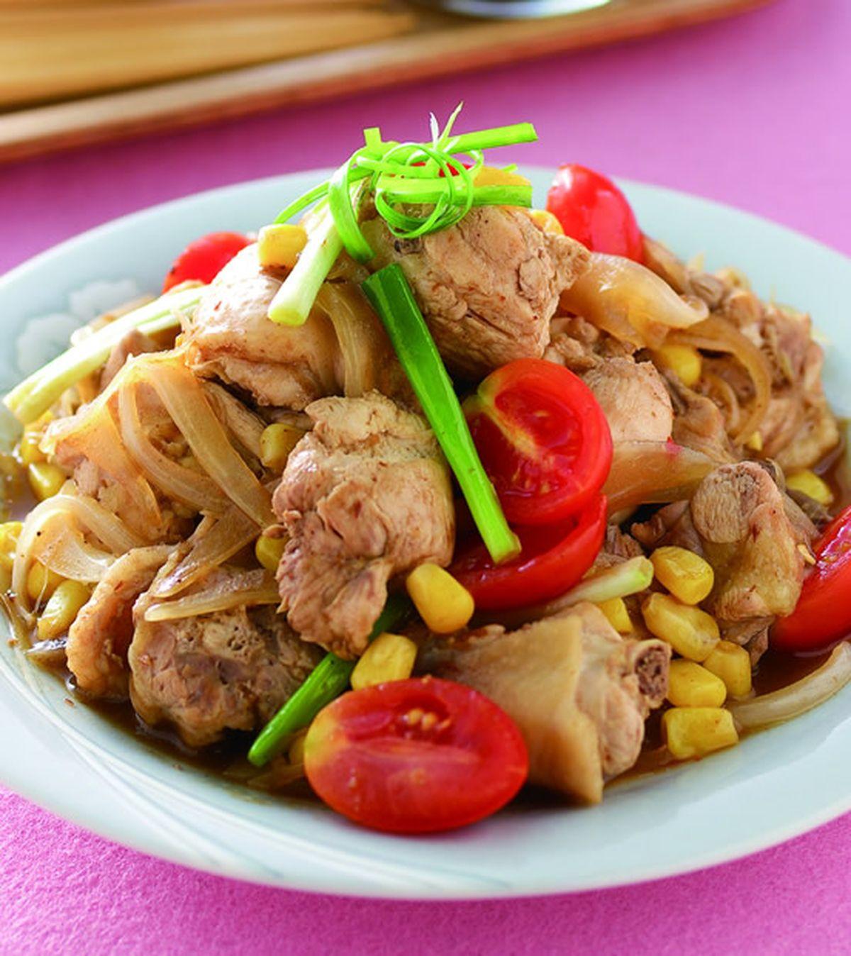 食譜:燒烤醬炒玉米雞塊