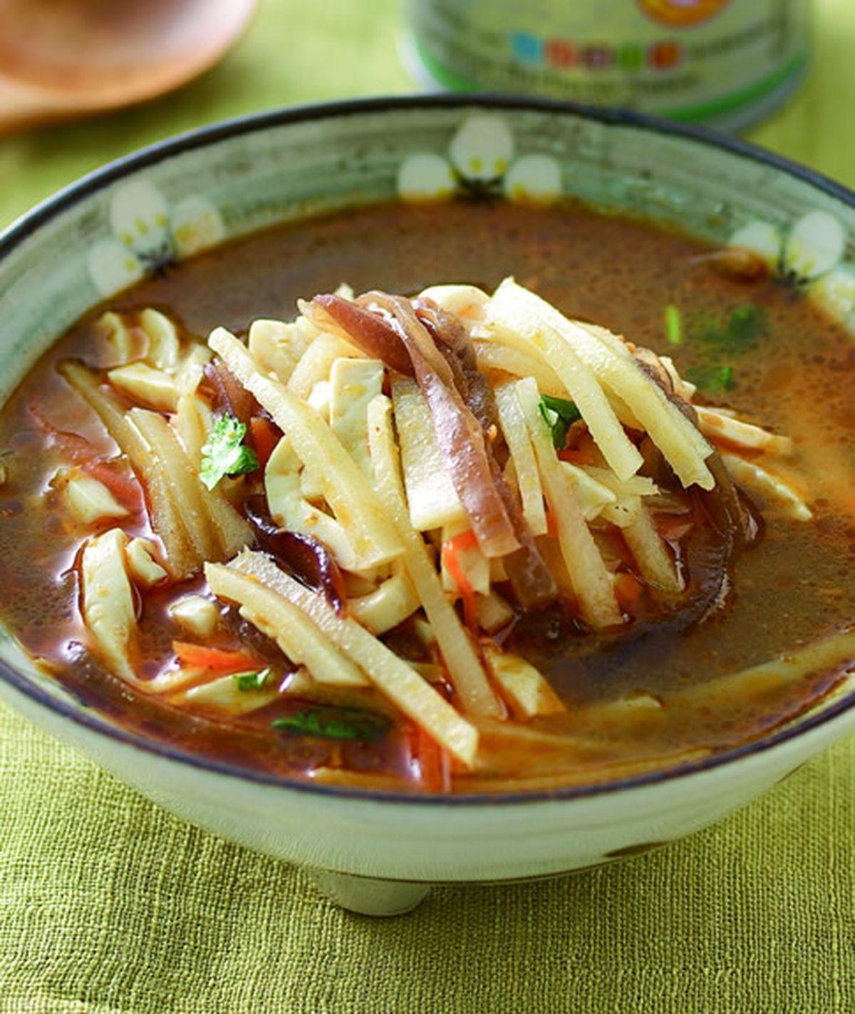 食譜:素燴三絲豆腐湯